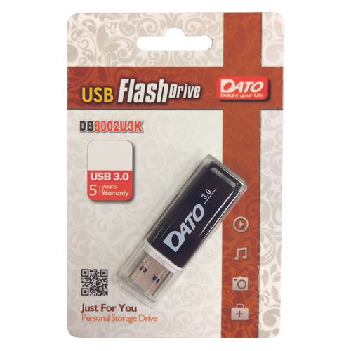 Фото - Флешка USB DATO DB8002U3 16Гб, USB3.0, черный [db8002u3k-16g] велозамок stg с ключами цвет черный ty4538