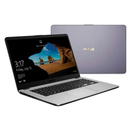 Ноутбук ASUS VivoBook X505ZA-BQ074T, 15.6, AMD Ryzen 5 2500U 2.0ГГц, 8Гб, 256Гб SSD, AMD Radeon Vega 8, Windows 10, 90NB0I11-M11120, серый ноутбук hp 14 cm0015ur amd ryzen 5 2500u 2000 mhz 14 0 1366x768 8192mb 128gb hdd dvd нет amd radeon vega 8 wifi windows 10 home