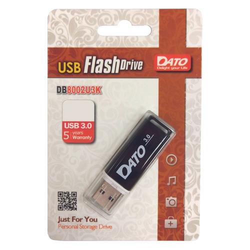 Фото - Флешка USB DATO DB8002U3 64Гб, USB3.0, черный [db8002u3k-64g] велозамок stg с ключами цвет черный ty4538