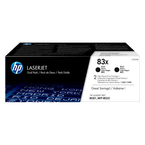 Картридж (двойная упаковка) HP 83X, черный / CF283XD