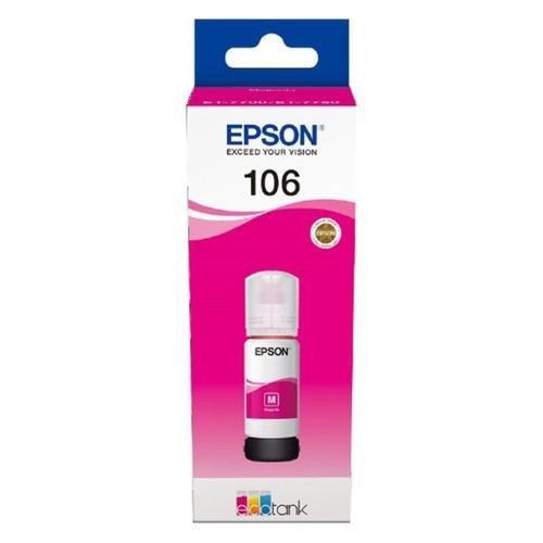 Картридж EPSON 106M пурпурный [c13t00r340]  - купить со скидкой
