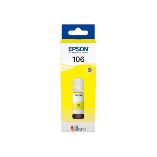 Картридж EPSON 106Y, желтый [c13t00r440] 106Y по цене 1 280