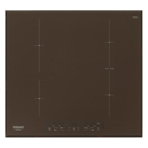 Индукционная варочная панель HOTPOINT-ARISTON KIA 641 B B (CF), индукционная, независимая, кофе индукционная варочная панель hotpoint ariston kia 641 b c