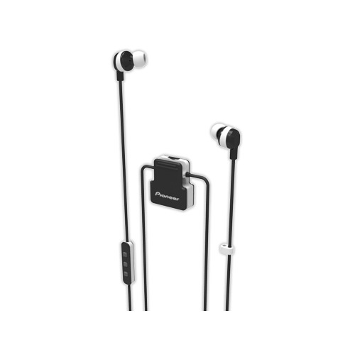 Гарнитура PIONEER SE-CL5BT-W, Bluetooth, вкладыши, белый гарнитура pioneer se cl6bt w bluetooth вкладыши белый