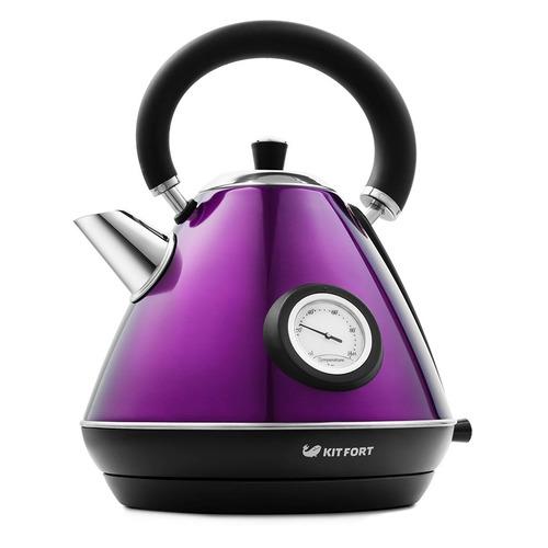 Чайник электрический KITFORT КТ-644-4, 2200Вт, фиолетовый и черный фен ga ma tempo 2200вт фиолетовый