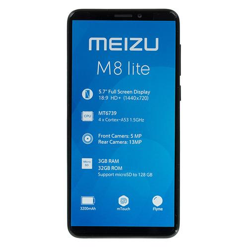 лучшая цена Смартфон MEIZU M8 lite 32Gb, M816H, черный