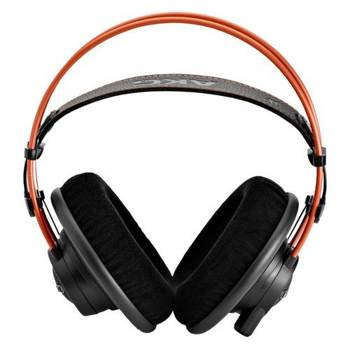 купить Наушники AKG K712PRO, 3.5 мм/6.3 мм, мониторы, черный/оранжевый [2458x00140] онлайн
