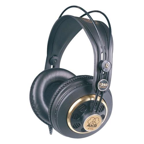 Наушники AKG K240 Studio, 3.5 мм/6.3 мм, мониторные, черный/золотистый [2058x00130]