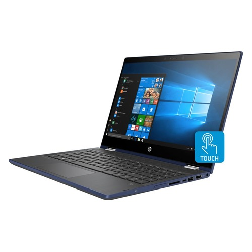 Ноутбук-трансформер HP Pavilion x360 14-cd1012ur, 14, IPS, Intel Core i3 8145U 2.1ГГц, 4Гб, 1000Гб, Intel UHD Graphics 620, Windows 10, 5SU74EA, синий ноутбук трансформер hp pavilion x360 14 cd0010ur 14 ips intel core i5 8250u 1 6ггц 8гб 1000гб 128гб ssd intel uhd graphics 620 windows 10 4gu34ea золотистый