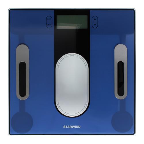 Напольные весы StarWind SSP6050, до 180кг, цвет: синий