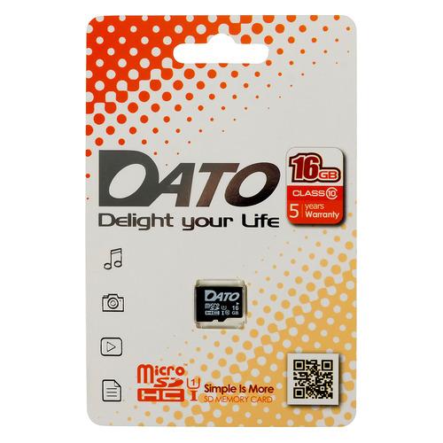 Фото - Карта памяти microSDHC UHS-I U1 DATO 16 ГБ, 40 МБ/с, Class 10, DTTF016GUIC10, 1 шт. карта памяти microsdhc uhs i u1 dato 16 гб 40 мб с class 10 dttf016guic10 1 шт