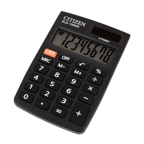 цена Калькулятор CITIZEN SLD-100NR, 8-разрядный, черный онлайн в 2017 году