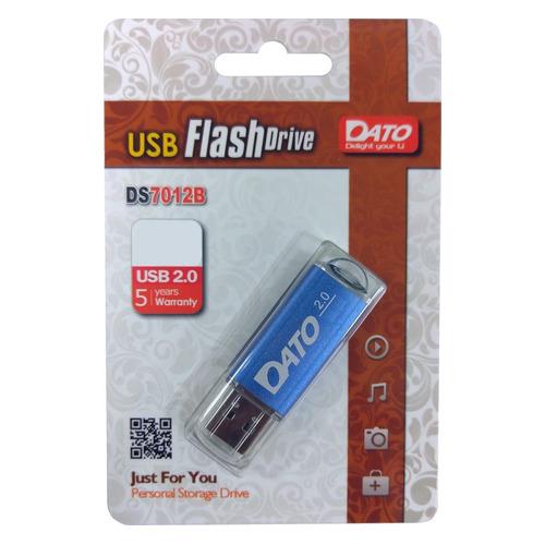 Фото - Флешка USB DATO DS7012 64ГБ, USB2.0, синий [ds7012b-64g] обучающий набор 6в1 чтение счет пони 03631