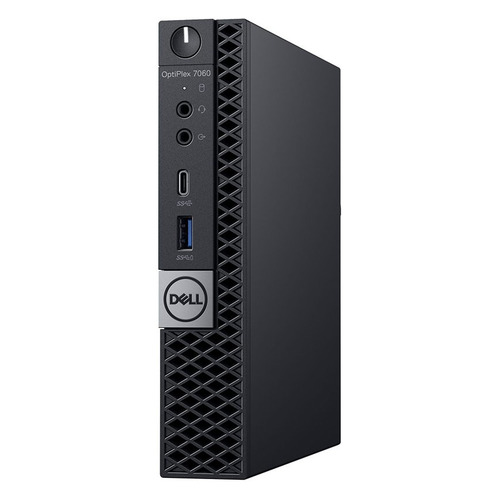 Компьютер DELL Optiplex 7060, Intel Core i7 8700T, DDR4 8Гб, 256Гб(SSD), Intel UHD Graphics 630, Windows 10 Professional, черный [7060-0823]