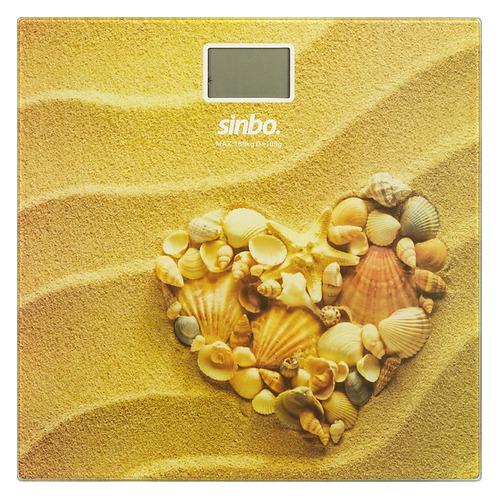 Напольные весы SINBO SBS 4449H, до 180кг, цвет: рисунок/сердца sinbo весы напольные электронные sinbo sbs 4414 макс 150кг серебристый черный