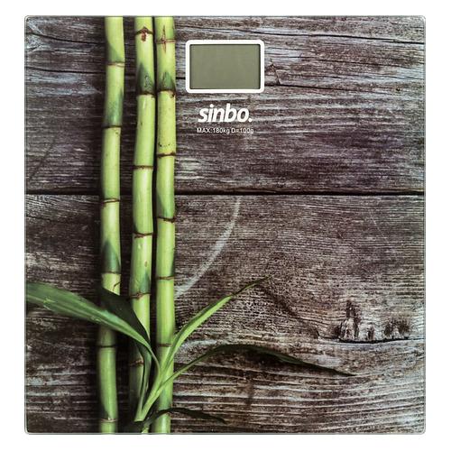 Напольные весы SINBO SBS 4449B, до 180кг, цвет: рисунок/дерево sinbo весы напольные электронные sinbo sbs 4414 макс 150кг серебристый черный