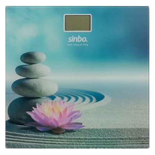 Напольные весы SINBO SBS 4449S, до 180кг, цвет: рисунок/цветы sinbo весы напольные электронные sinbo sbs 4414 макс 150кг серебристый черный