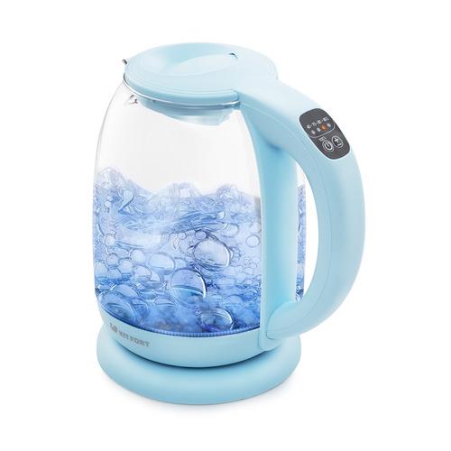 Чайник электрический KITFORT КТ-640-1, 2200Вт, голубой недорого