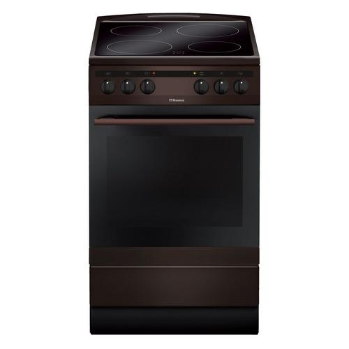 лучшая цена Электрическая плита HANSA FCCB58088, стеклокерамика, коричневый
