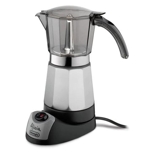 Кофеварка DELONGHI EMK 9, гейзерная, серебристый [0132041002]