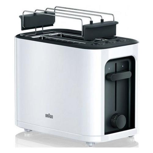 Тостер BRAUN HT3010WH, белый/черный [0x23010008] недорого