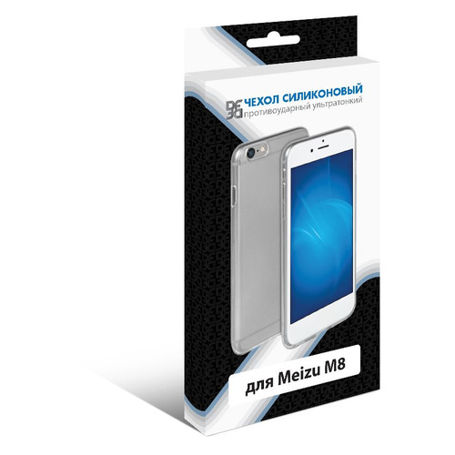 Чехол (клип-кейс) DF mzCase-31, для Meizu M8, прозрачный  - купить со скидкой