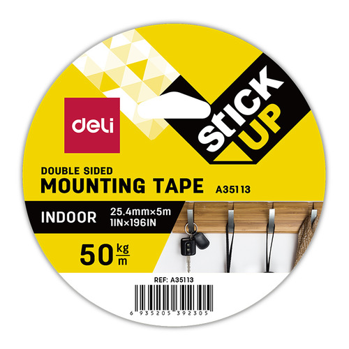 Клейкая лента монтажная Deli EA35113 белая шир.25.4мм дл.5м 24 шт./кор. цена и фото