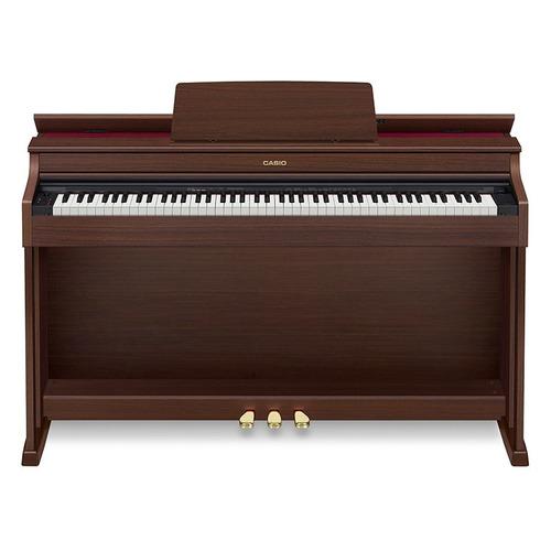 Цифровое фортепиано CASIO CELVIANO, AP-470BN, 88, полновзвешенная, полноразмерные, 256 коричневый цена и фото