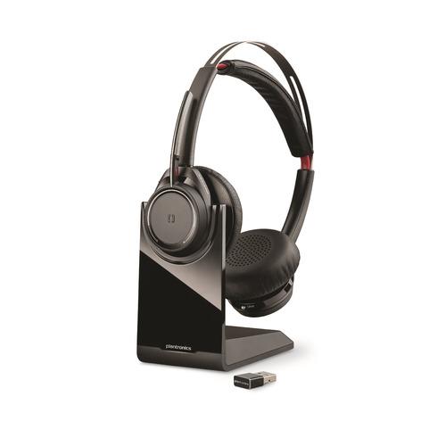 цена на Гарнитура PLANTRONICS Voyager Focus UC B825M, 202652-02, для контактных центров, накладные, bluetooth, черный