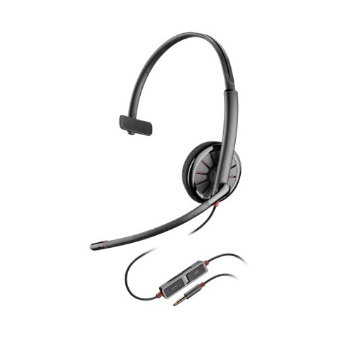 Моно гарнитура PLANTRONICS Blackwire C215, накладные, черный [205203-02] philips hr 1605 00