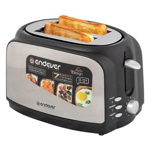 Тостер ENDEVER Skyline ST-121, серебристый/черный [80507] тостер endever skyline st 121