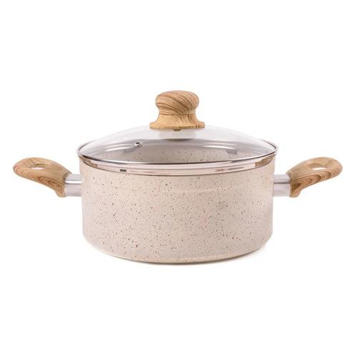 Кастрюля ENDEVER Stone-Beige-20С, 2.5л, с крышкой, бежевый [80705] pans with lid endever stone beige 20c