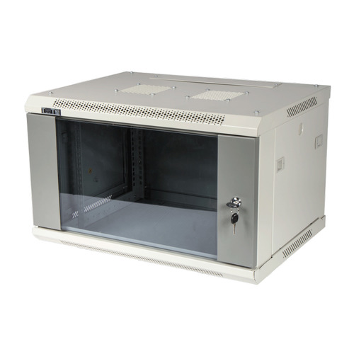 лучшая цена Шкаф коммутационный Lanmaster (TWT-CBWPG-9U-6X4-GY) настенный 9U 600x400мм пер.дв.стекл 60кг серый