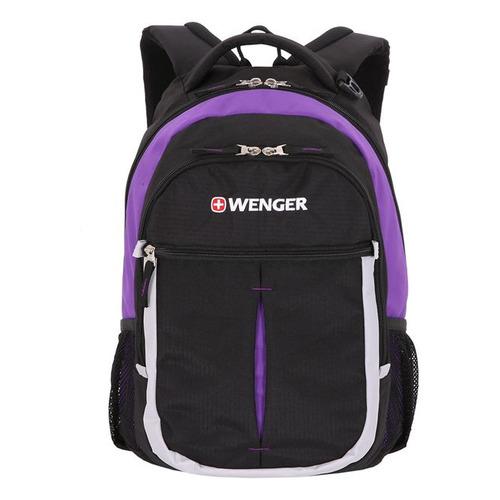 Рюкзак Wenger 13852915 черный/фиолетовый/серебристый 32x45x15см 22л. 0.78кг. несессер victorinox с крючком и карманом органайзером