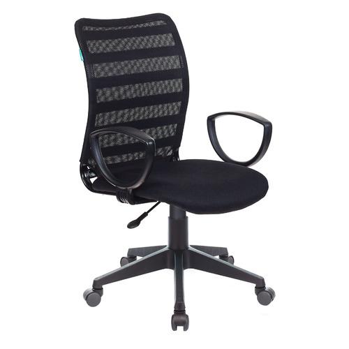 Кресло БЮРОКРАТ CH-599AXSN, на колесиках, ткань, черный [ch-599axsn/32b/tw-11]