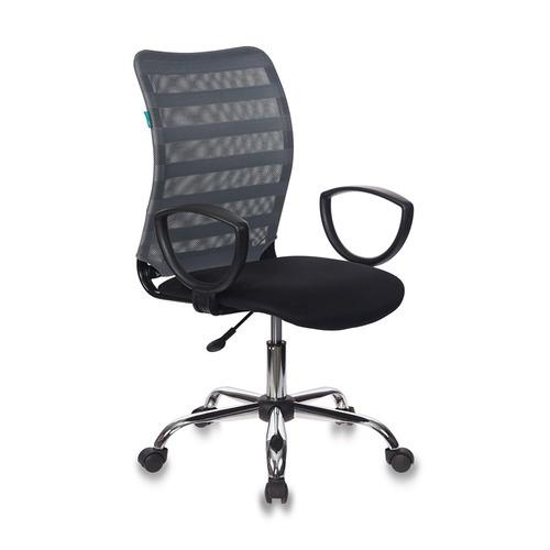 Кресло БЮРОКРАТ CH-599AXSL, на колесиках, ткань, черный/серый [ch-599axsl/32g/tw-11] кресло офисное персона persona доступные цвета обивки искусств чёрная кожа