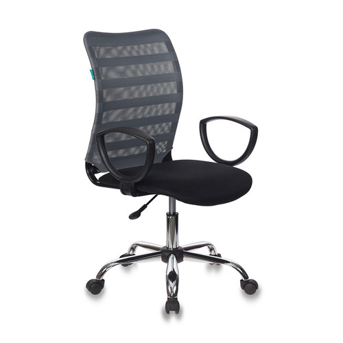 Кресло БЮРОКРАТ CH-599AXSL, на колесиках, ткань, черный/серый [ch-599axsl/32g/tw-11]