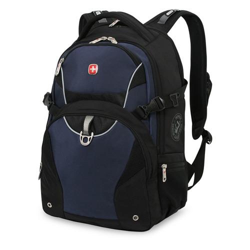 цены Рюкзак Wenger 3263203410 черный/синий 36x47x19см 32л. 1.12кг.
