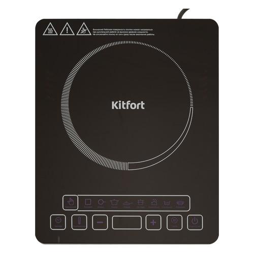 цена Плита Электрическая Kitfort КТ-116 черный стеклокерамика (настольная) онлайн в 2017 году