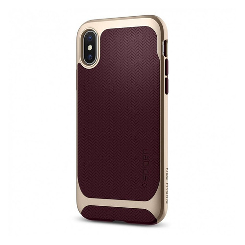Чехол (клип-кейс) Spigen Neo Hybrid, для Apple iPhone X/XS, бордовый [057cs22168] чехол клип кейс spigen crystal hybrid glitter для apple iphone x серый [057cs22148]