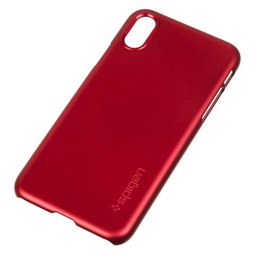 Чехол (клип-кейс) SPIGEN Thin Fit, для Apple iPhone X, красный [057cs22109] стоимость