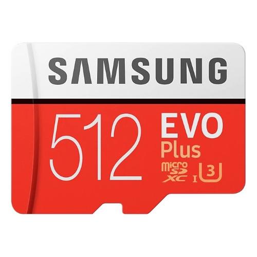 Карта памяти microSDXC UHS-I U3 SAMSUNG EVO PLUS 512 ГБ, 100 МБ/с, Class 10, MB-MC512GA/RU, 1 шт., переходник SD
