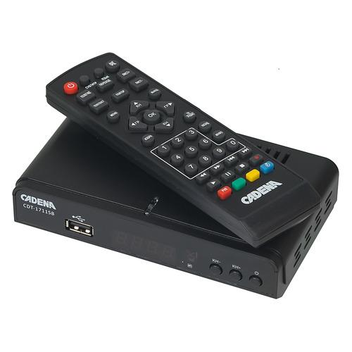 Ресивер DVB-T2 CADENA CDT-1711SB, черный [046/91/00047720] asus h170i pro
