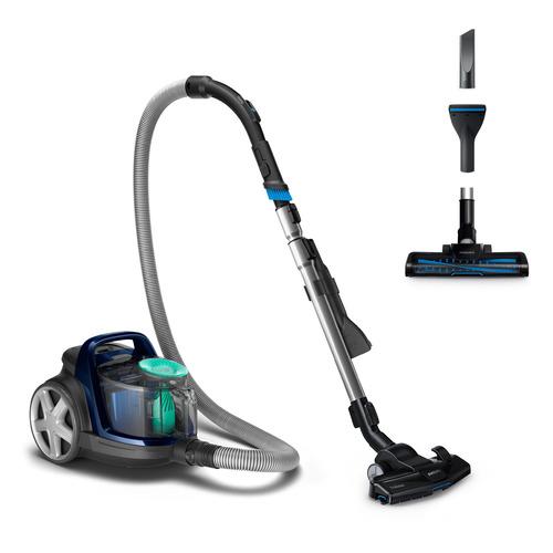 Пылесос PHILIPS PowerPro Active FC9573/01, 1900Вт, черный/синий цена и фото