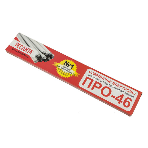 Электроды Ресанта ПРО-46, Ф2,5 D2.5мм L300мм 1000гр (71/6/34) ПРО-46, Ф2,5 по цене 330