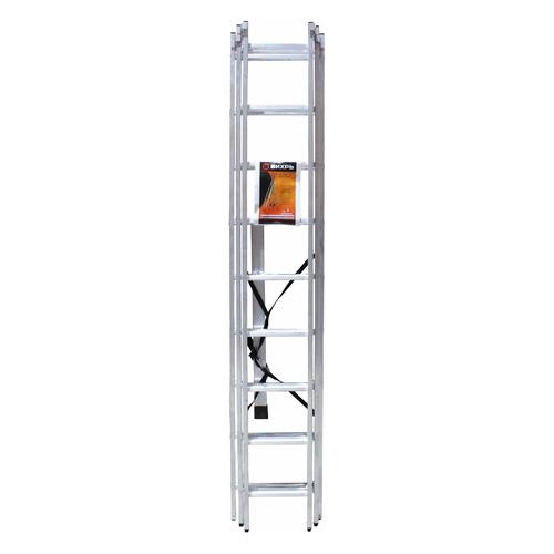 Лестница Вихрь ЛА 3х9 алюминий 9ступ. H5.52м макс.нагр.:150кг (73/5/1/16) лестница алюминиевая складная вихрь 73 5 1 17