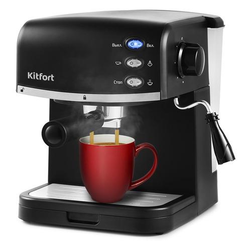 Кофеварка KITFORT КТ-718, эспрессо, черный цены онлайн