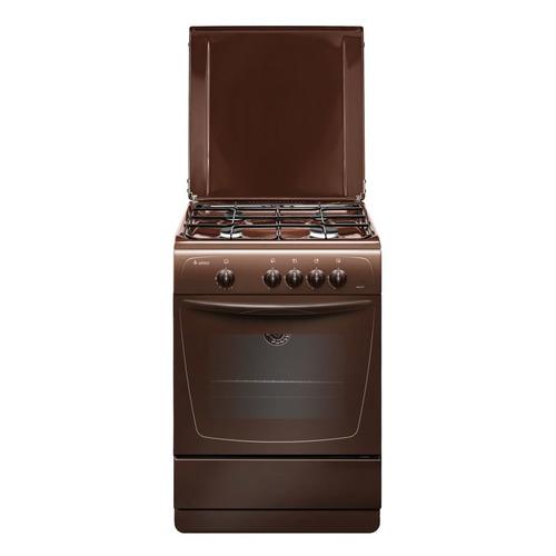 Газовая плита GEFEST ПГ 1200-С7 К89, газовая духовка, металлическая крышка, коричневый