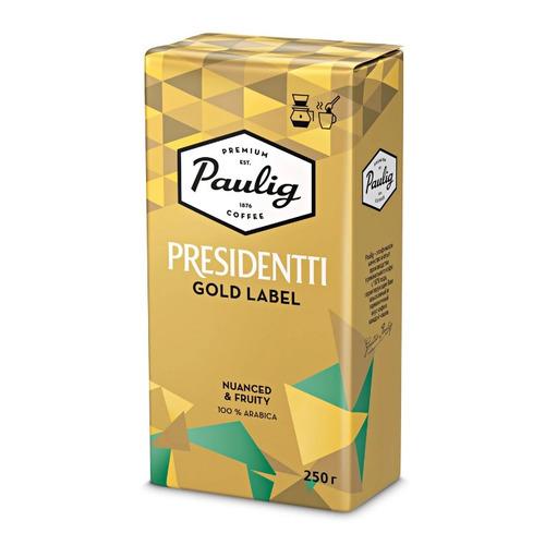 Кофе молотый PAULIG Presidentti Gold Label, 250 гр [16976] кофе зерновой paulig presidentti original легкая обжарка 1000 гр [17649]
