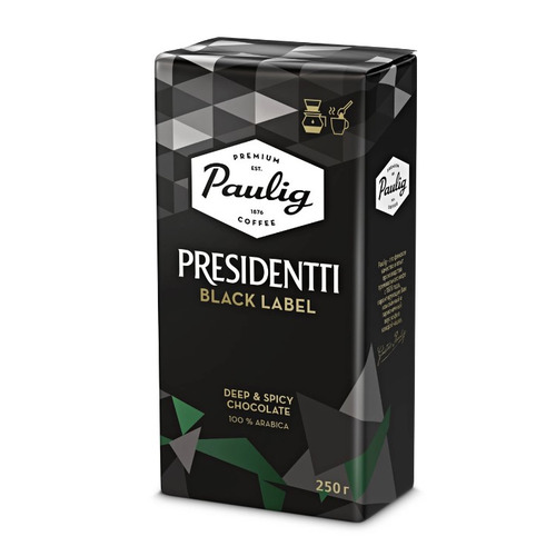 Кофе молотый PAULIG Presidentti Black Label, 250 гр [16748] кофе зерновой paulig presidentti original легкая обжарка 1000 гр [17649]